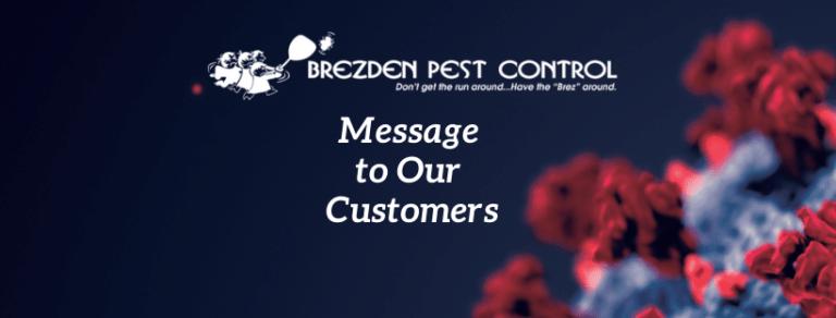 Coronavirus: Message To Our Customers